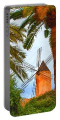 Windmill In Palma De Mallorca Portable Battery Charger