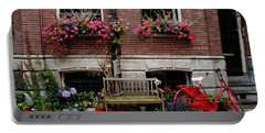Window Box Bicycle And Bench  -- Amsterdam Portable Battery Charger