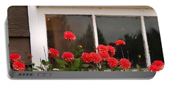 Portable Battery Charger featuring the photograph Window Box Delight by Jordan Blackstone