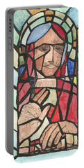 Portable Battery Charger featuring the painting Window Of Peace by Tracey Williams