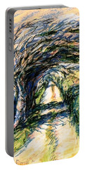 Windswept Tree On Aran Island Galway Ireland  Portable Battery Charger by Trudi Doyle