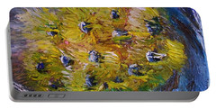 Portable Battery Charger featuring the painting Windy by Laurie L