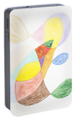 Portable Battery Charger featuring the painting Windy  by Stormm Bradshaw