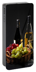 Wine And Grapes Portable Battery Charger
