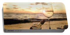 Wine And Sunset Portable Battery Charger