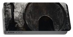 Wine Barrel Portable Battery Charger by Marco Oliveira