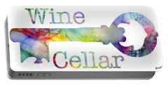 Wine Cellar Watercolor Portable Battery Charger