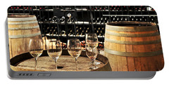 Wine Glasses And Barrels Portable Battery Charger