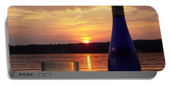 Wine Water Sunset Portable Battery Charger