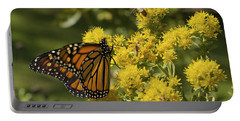 Wings - Monarch On Goldenrod Portable Battery Charger by Jane Eleanor Nicholas