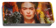 Wings Of Frida Portable Battery Charger by Mo T