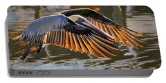 Wings Of Gold Portable Battery Charger by Quinn Sedam