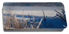 Winnisquam Winter Portable Battery Charger by Mim White