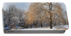 Winter Along The River Portable Battery Charger by Nina Silver