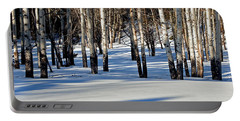 Portable Battery Charger featuring the photograph Winter Aspens by Jack Bell