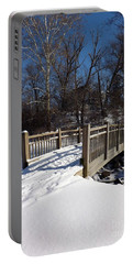Winter At Creekside Portable Battery Charger