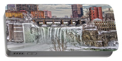 Winter At High Falls Portable Battery Charger