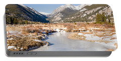 Winter At Horseshoe Park In Rocky Mountain National Park Portable Battery Charger