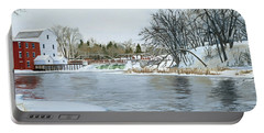 Winter At Phelps Mill Portable Battery Charger