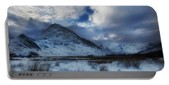 Winter At Tryfan Portable Battery Charger