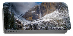 Winter At Yosemite Falls Portable Battery Charger