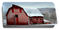 Winter Barn Portable Battery Charger by Deena Stoddard