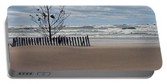 Winter Beach Portable Battery Charger