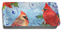 Christmas Mixed Media Portable Battery Chargers