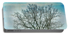 Portable Battery Charger featuring the photograph Winter Blues by Gary Slawsky