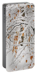 Winter Branches Portable Battery Charger by Ann Horn