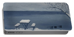 Winter By The Lake Portable Battery Charger
