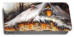 Winter Cottage Portable Battery Charger