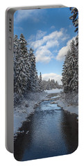 Winter Creek Portable Battery Charger by Fran Riley