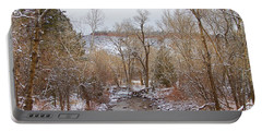 Winter Creek Red Rock Scenic Landscape View Portable Battery Charger