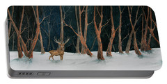 Winter Deer Portable Battery Charger