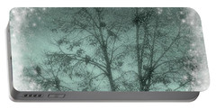Winter Doves Portable Battery Charger by Diane Alexander