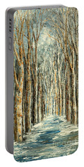 Winter Dreams Portable Battery Charger by Tatiana Iliina