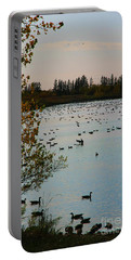 Portable Battery Charger featuring the photograph Winter Escape Gathering by Teresa Zieba
