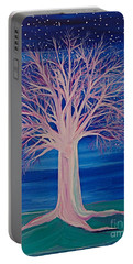 Winter Fantasy Tree Portable Battery Charger by First Star Art