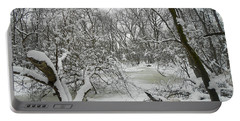 Winter Forest Series 3 Portable Battery Charger by Verana Stark