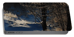 Portable Battery Charger featuring the photograph Winter Glow by Mim White