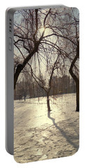 Willows In Winter Portable Battery Charger by Henryk Gorecki