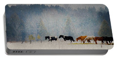 Winter Horses Portable Battery Charger