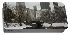 Winter In Central Park Portable Battery Charger