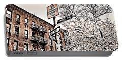 Winter In The Bronx Portable Battery Charger by Paulo Guimaraes