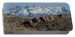 Winter In The  Mohave Desert Portable Battery Charger