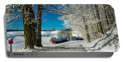 Winter In Vermont Portable Battery Charger