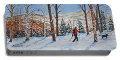 Winter In Vermont Woods Portable Battery Charger