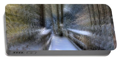 Winter Light On Bridge Portable Battery Charger