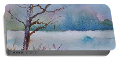 Winter Loneliness Portable Battery Charger by Anna Ruzsan